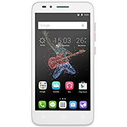 Alcatel Go Play smartphone débloqué 4G (Ecran : 5 pouces - 4 Go - 1 Go RAM - Waterproof IP67 - Android Lollipop 5.0.2) Blanc/Orange