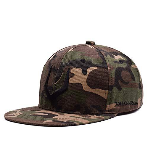 Baseball Langarm-hut (YYXXX Baseball Kappen,Camouflage Langarm-Brief Hip Hop Hut Unisex Persönlichkeit Wild Fashion 56-60Cm)