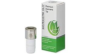 Microderm GLO microdermoabrasión puntas de diamante - accesorios de acero inoxidable de grado médico, la tecnología patentada Safe3D, aprobado por la FDA, seguro para todo tipo de pieles