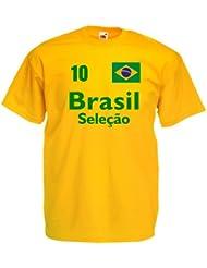 Brasilien Herren T-Shirt Brasil Seleçao Trikot Fan Shirt