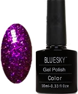 Bluesky UV LED Gel Soak Off Nail Polish, Frosty Indigo