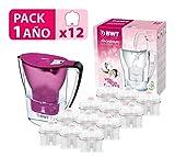 BWT Penguin électronique Carafe d'eau filtrante avec Pack spécial 6/12filtres, polymères Plastiques Moderne 12 Violet