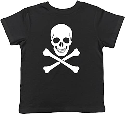 Skull and Crossbones Gothic Childrens Kids Short Sleeve