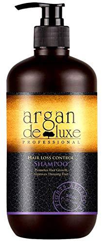 Arganöl Haarwachstums Shampoo in Friseur-Qualität ✔ Effektiv gegen Haarausfall ✔ Stärkend, Regenerierend, Wachstumsfördernd ✔ Argan DeLuxe, 300ml -
