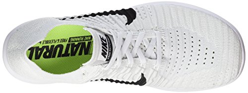 Nike Free Rn Flyknit, Chaussures de Running Entrainement Homme Blanc (White/black-pure Platinum)