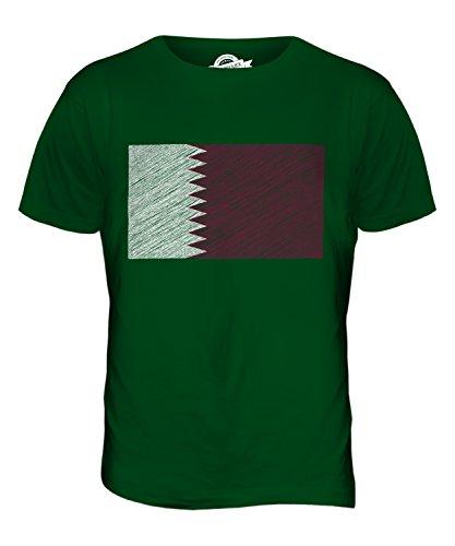 CandyMix Katar Kritzelte Flagge Herren T Shirt Flaschengrün