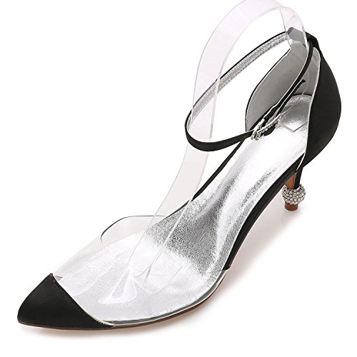 L@YC Tacco Alto da Donna Summer Wedding Party & Evening Dress Casual Stiletto F17767-21 Black