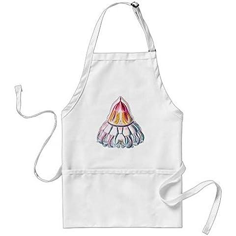Unisex Corona o casco medusas–Delantal para adultos de poliéster con correa ajustable y bolsillos, 53,3cm por 89