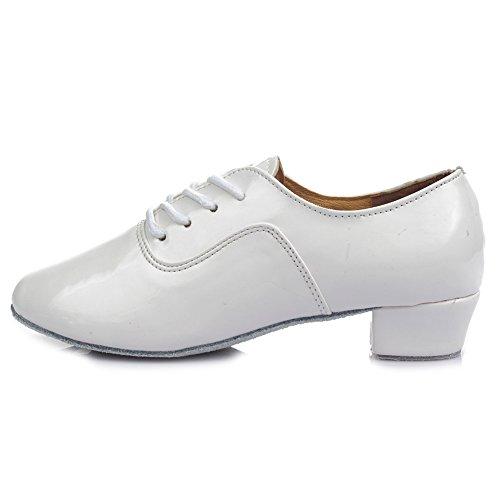 SWDZM Herren Tanzschuhe Standard Latin Dance Schuhe Ballsaal Weiß Modell-702 40 EU