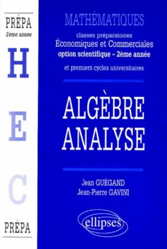 Classes prépas économiques et commerciales : Alg...