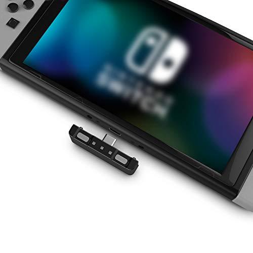 HomeSpot Bluetooth Adapter Audio Transmitter USB-C Bluetooth Dongle 5.0 mit aptX Low Latency NS Game Zubehör kompatibel mit Bluetooth Kopfhörer AirPods Bose Sony für Nintendo Switch (Grau + Grau)