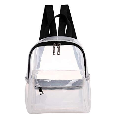 Dorical Damenhandtaschen Frauen Mädchen Transparent Rucksack,Waterproof langlebig strapazierfähig transparent Rucksack mit verstellbarer Gurt, Student Schultasche für Schule, Reisen(Weiß)