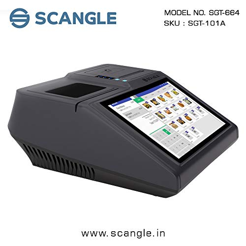 Scangle All in One Pos Terminal Billing Machine with Built In Printer & Android Operating System- Black