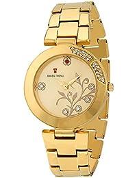Swiss Trend Elegant Golden Chain Analog Watch For Women - OLST2089