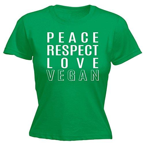 123t Slogans - T-shirt - Slogan - Manches Courtes - Femme vert kelly