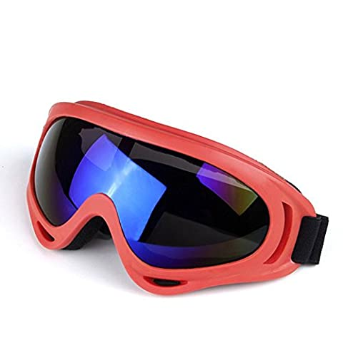 DZW Color Motorcycle Goggles Outdoor Riding Glasses Off - Road Goggles Skiing Mirror , red