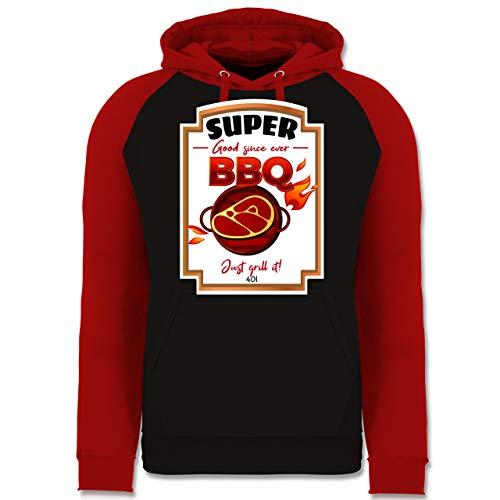 Shirtracer Karneval & Fasching - BBQ Soße Kostüm - XL - Schwarz/Rot - JH009 - Baseball Hoodie