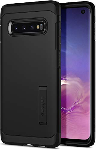 Spigen Tough Armor Galaxy S10 Case Cover with Extreme Shockproof Protection and Integrated Kickstand for Samsung Galaxy S10 (2019) - Black