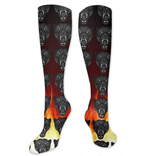 ouyjian Knee High Socks Angry Wild Big Cat Kompressionssocken Sports Athletic Socks Tube Strumpfs Long Socks Funny Personalized Gift Socks for Women Teens Girls (High-cut-socken Der Männer)