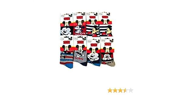 Lot de 6 Paires Chaussettes Disney MICKEY MOUSE Image Imprim/é Doux pour B/éb/é