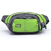 orrinsports 3-zipper in nylon resistente all' acqua sport all' aperto Marsupio per passeggiate, Trekking, Campeggio, Pesca, unisex, Green