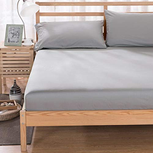 SUYUN Antiallergischer Matratzenbezug mit Reißverschluss, wasserdichter und atmungsaktiver Matratzenbezug,Matratzenbezug grau180 * 200 * 27cm