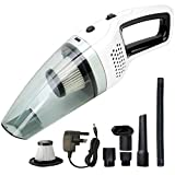 BOLWEO Handheld Vacuum Cleaner Cordless, DC 12V Portable Rechargeable Car Vacuum Cleaner