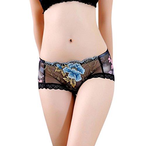 PowerFul-LOT Damen Unterwäsche Plot Frauen Sexy Erotik Dessous Body Nachtwäsche Versuchung Nightgown Nighty Unterwäsche Spitze G-String Thongs V-String Höschen (Schwarz) -