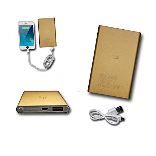 Batterie USB Externe de Secours 8000mAh avec LED (câble inclus) Power Bank or gold Output Intelligent Quick Charge pour LG Google Nexus 5X by PH26®