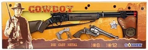 Gohner Wild West Cowboy Set 12-Shots Revolver and Rifle with
