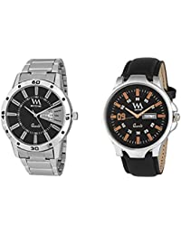 Watch Me Day And Date Analog Watches Gift Combo Set Of 2 Watches For Men And Boys DDWM-017-025bys