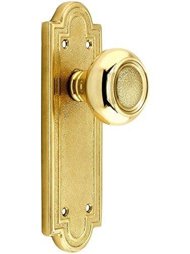 Belmont Door Set With Belmont Knobs Passage Polished Brass. Antique Brass Door Hardware. by Emtek -
