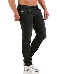 Diesel Homme Belther 0822R Regular Slim Tapered Jeans, Noir