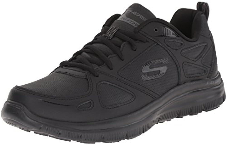 Scarpe Skechers Sport per uomo in pelle e sintetico sintetico sintetico nero con memory foam   Caratteristiche Eccezionali  5090e1