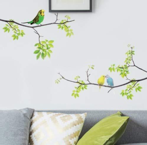 CCM 1 Stück Wandtattoos Vögel auf Baum Peel und Stick Frische Abnehmbare Wandaufkleber für Kinder Wohnzimmer Schlafzimmer Kinderzimmer -