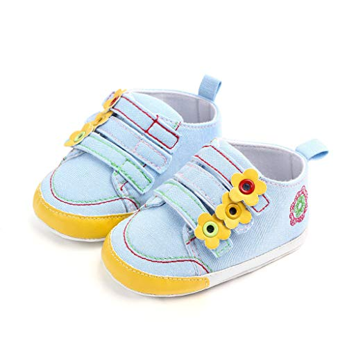738298224e Berimaterry Bebé Prewalker Zapatos Primeros Pasos para bebé-niñas,Zapatos  de Flores de Encaje,Sandalias de Bowknot para 0-6 6-12 12-18 Meses Bebé  Cuero ...
