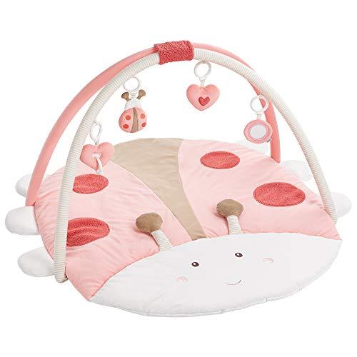 Fehn 068399 3-D-Activity-Decke Käfer / Spielbogen mit 4 abnehmbaren Spielzeugen für Babys Spiel & Spaß von Geburt an / Maße: 95x85cm - Garde Mädchen