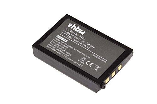 vhbw Li-Ion Akku 1800mAh (3.7V) für Barcode Scanner EC-Terminal wie 496461-0450, 496466-1130, BT-20L, BT-20LB