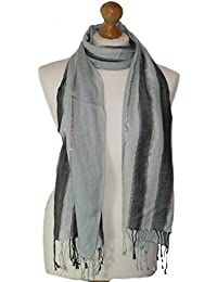 Unisex Stripped paneled scarf with lurex stripe available in other colours