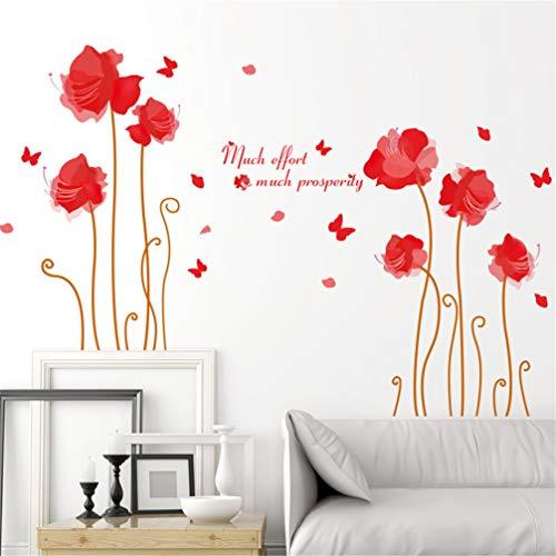 JKJND Autocollants Muraux Décoratifs Chevet Garde-Robe Chaude Sticker Mural Autocollant D'Ange De Safran De Fond D'Écran Romantique
