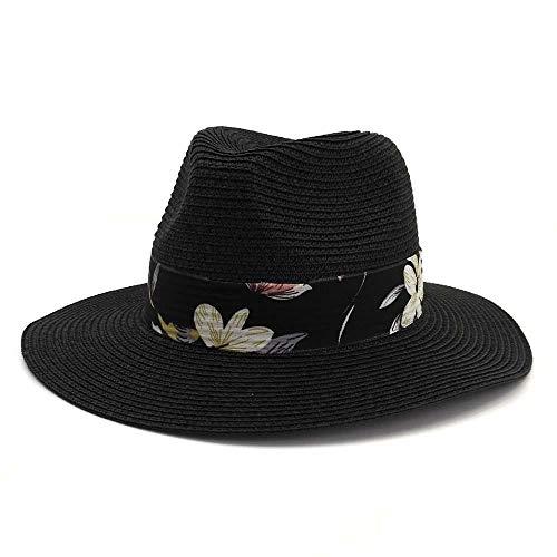 youjiu Sonnenschirm Hut Paar Strohhut männlichen und weiblichen Jazz Hut im Freien Sonnenschirm Hut @ Black_M - Mafia Männliche Kostüm