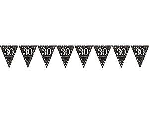 Banderines para cumpleaños nro. 30 Amscan 9900567, 1,8m, color dorado