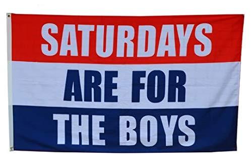 AZ FLAG Flagge SAMSTAGE SIND FÜR DIE Jungen 150x90cm - Saturdays Are for The Boys Fahne 90 x 150 cm - Flaggen Top Qualität