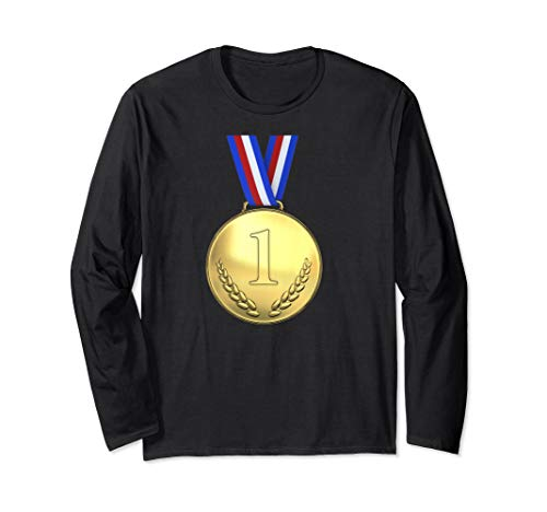 Gewinner Kostüm Des - Einfache Halloween Kostüm Idee Brot Gewinner Medaille Paare Langarmshirt