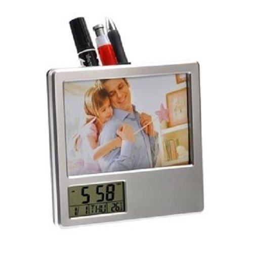 CONNECTWIDE® Digital Clock With Pen-Holder and Photo Frame- Multi-functional