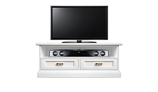 klassischer tv rack soundbar mit 2 schubladen sockelleiste gegen staub raum fur soundbar und loch fur kabeldurchfuhrung mobel tv aus holz neu made in