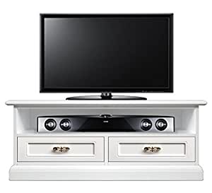 klassischer tv rack soundbar mit 2 schubladen sockelleiste gegen staub raum f r soundbar und. Black Bedroom Furniture Sets. Home Design Ideas