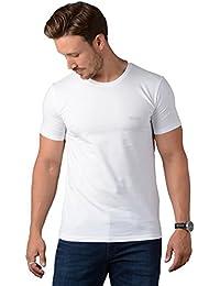Hugo Boss T-Shirt Homme, Blanc - Basic405