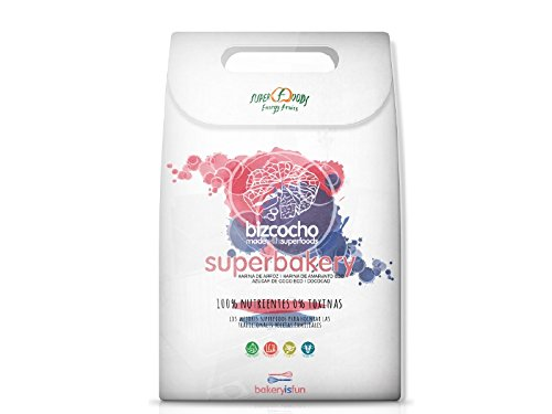 Preparado para bizcocho sin gluten ecológico SUPERFOODS (655 gr)