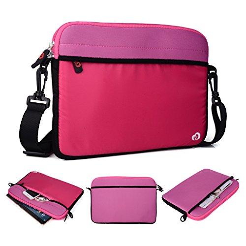Kroo Tablet/Laptop Hülle Sleeve Case mit Schultergurt für Allview Viva H1001LTE rosa rose